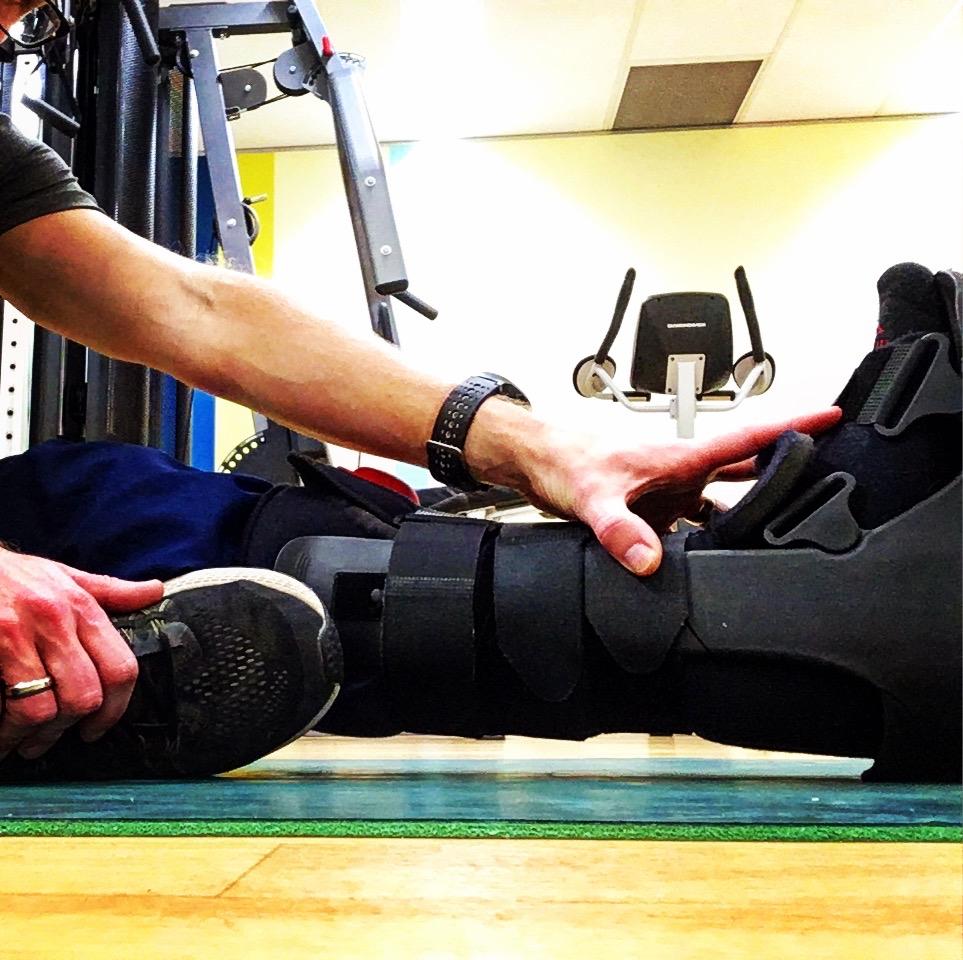 moon boot rehab