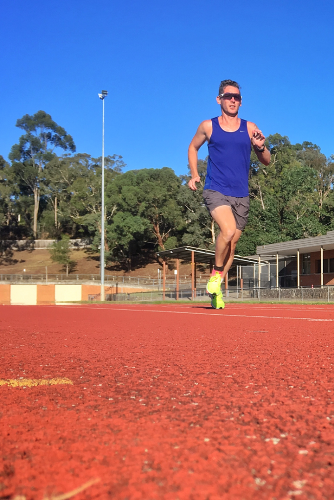 Anaerobic tolerance training intervals track