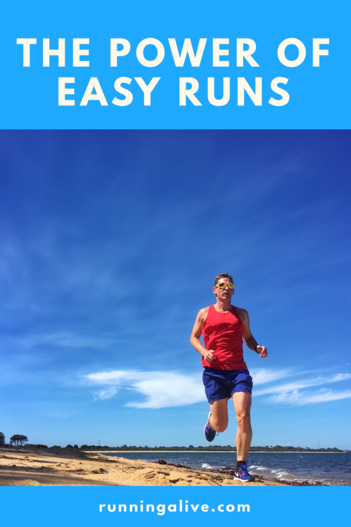 Power of easy runs beach running