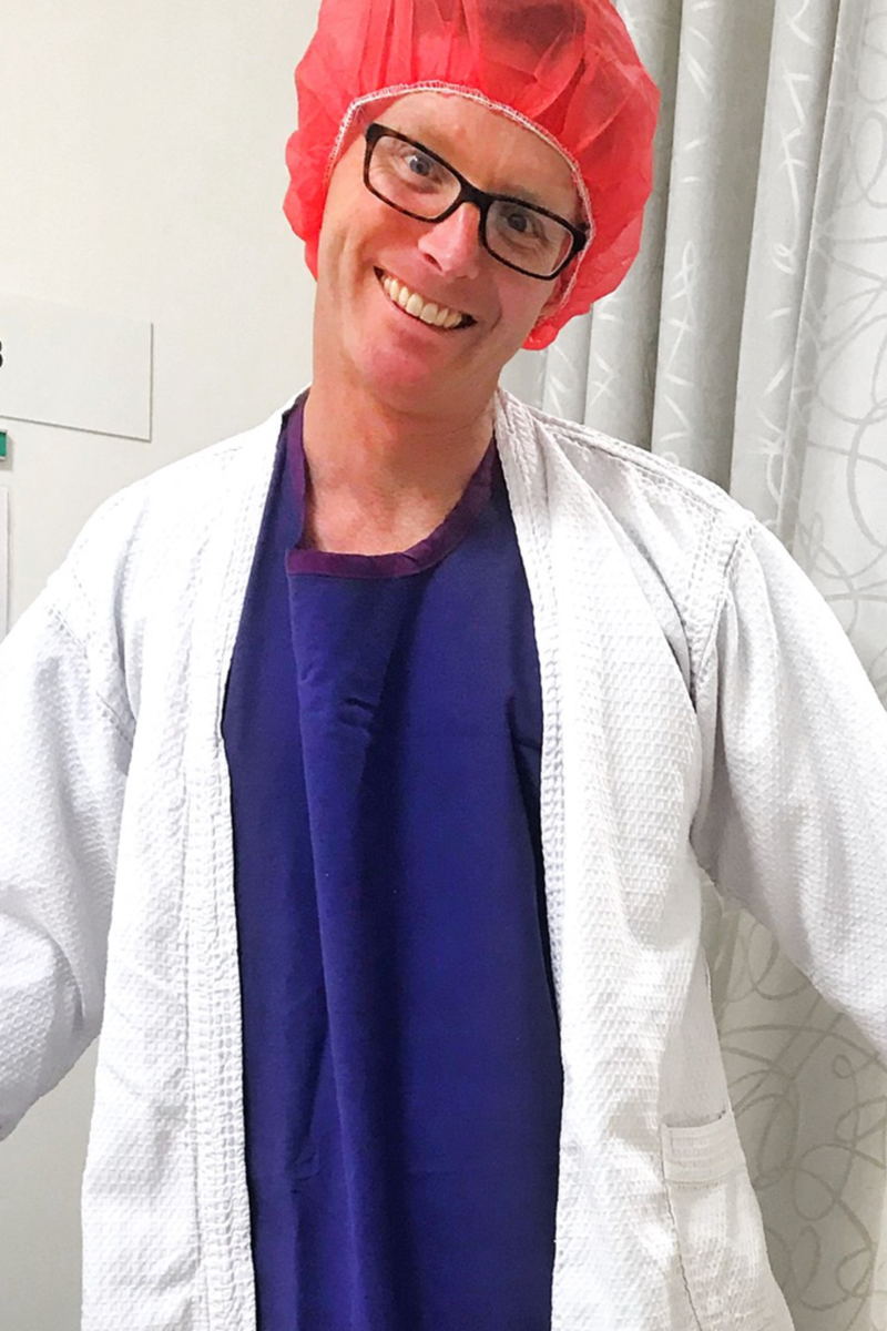 Diagnosed with melanoma skin cancer here I am about to go into surgery